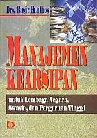 toko buku rahma: buku MANAJEMEN KEARSIPAN, pengarang basir barthos, penerbit bumi aksara