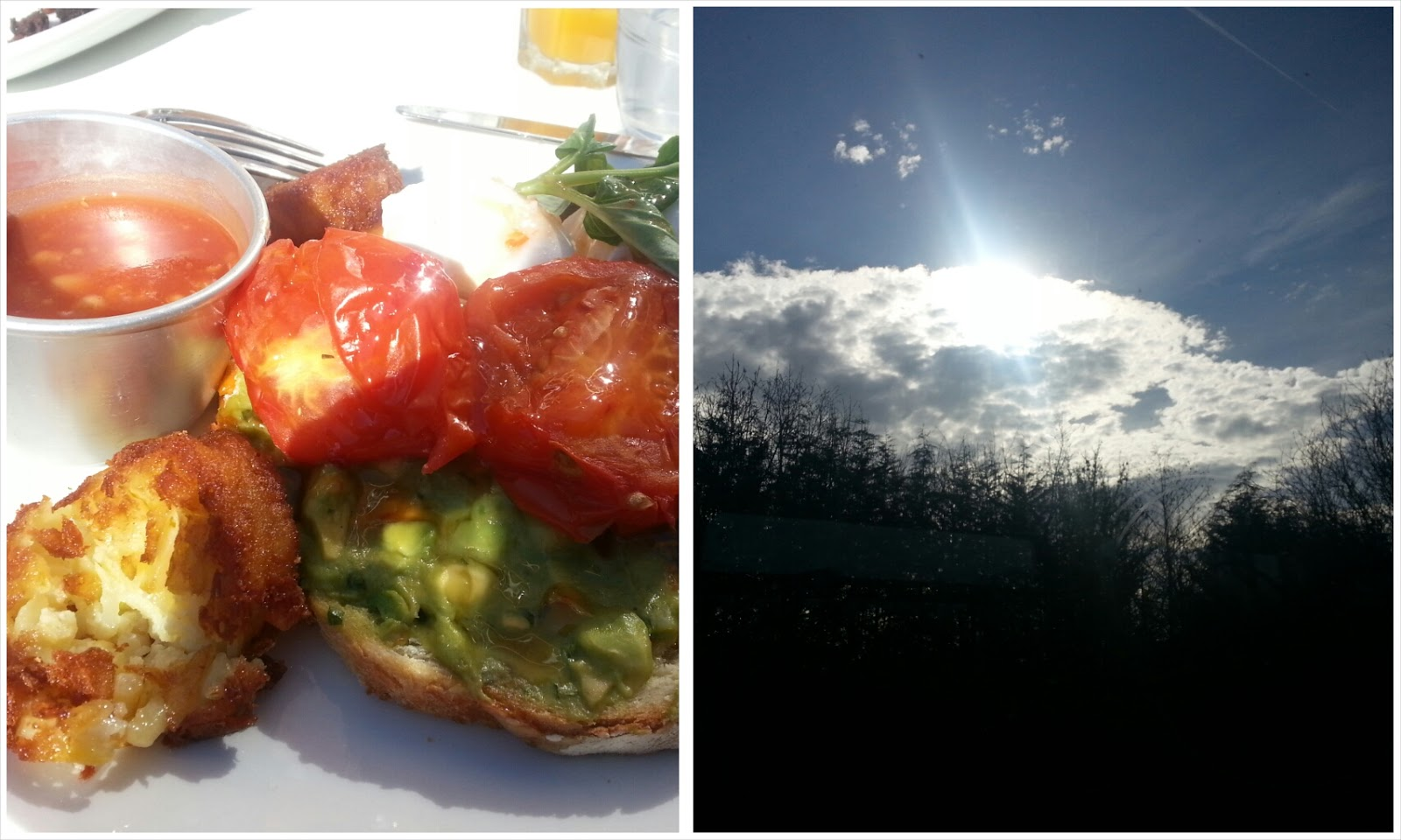 Reasons to be cheerful - breakfast at Bills and sunshine