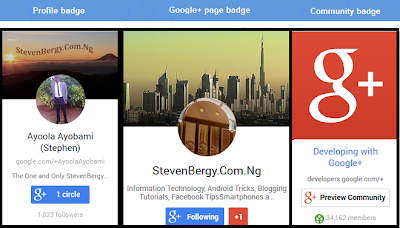 StevenBergy Google+ Badges