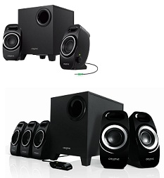 Creative SBS A355 2.1 Multimedia speaker for Rs.1999 | Creative Inspire T6300 5.1 Multimedia Speaker System for Rs.3999 @ Amazon