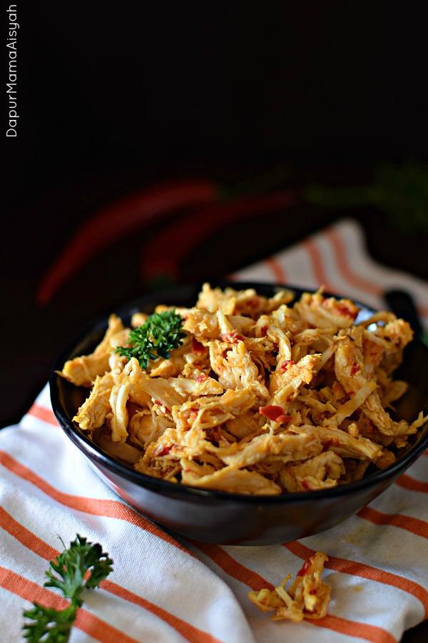 Ayam Suwir Bumbu Rujak