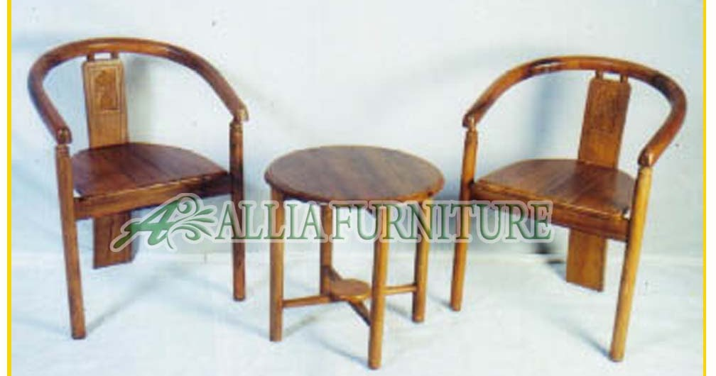 Set Meja Kursi Teras Ukiran Becak Allia Furniture