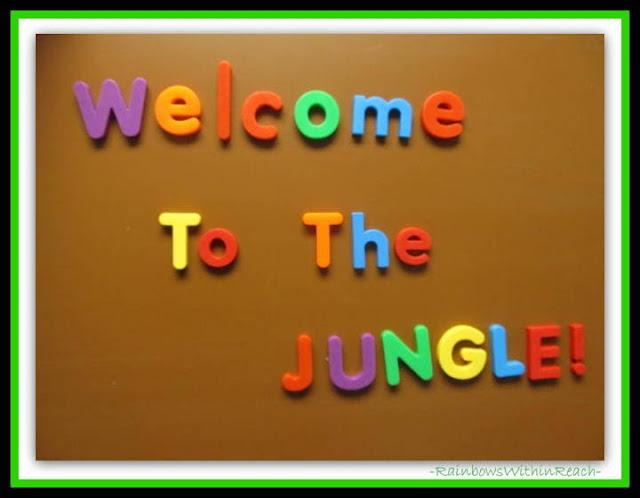 Kindergarten Jungle Theme Welcome via RainbowsWithinReach