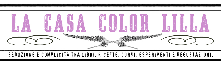 la casa color lilla