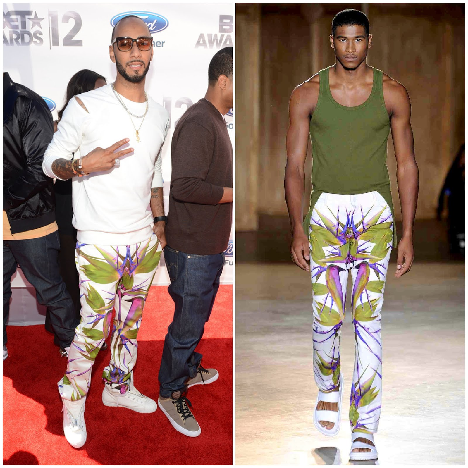 00o00 London Menswear Blogger Celebrity Style Swizz Beatz BET Awards 2012 Givenchy Mr Porter