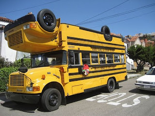 autobus escolar inusual