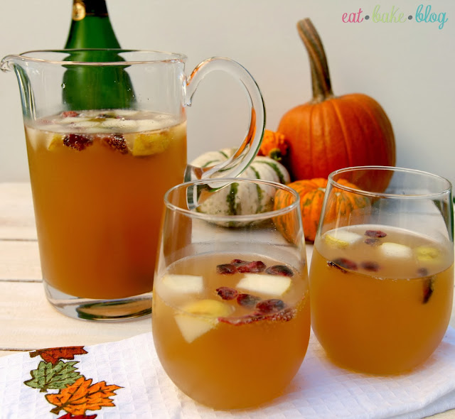 champagne autumn apple cider ginger beer autumn cocktail sangria