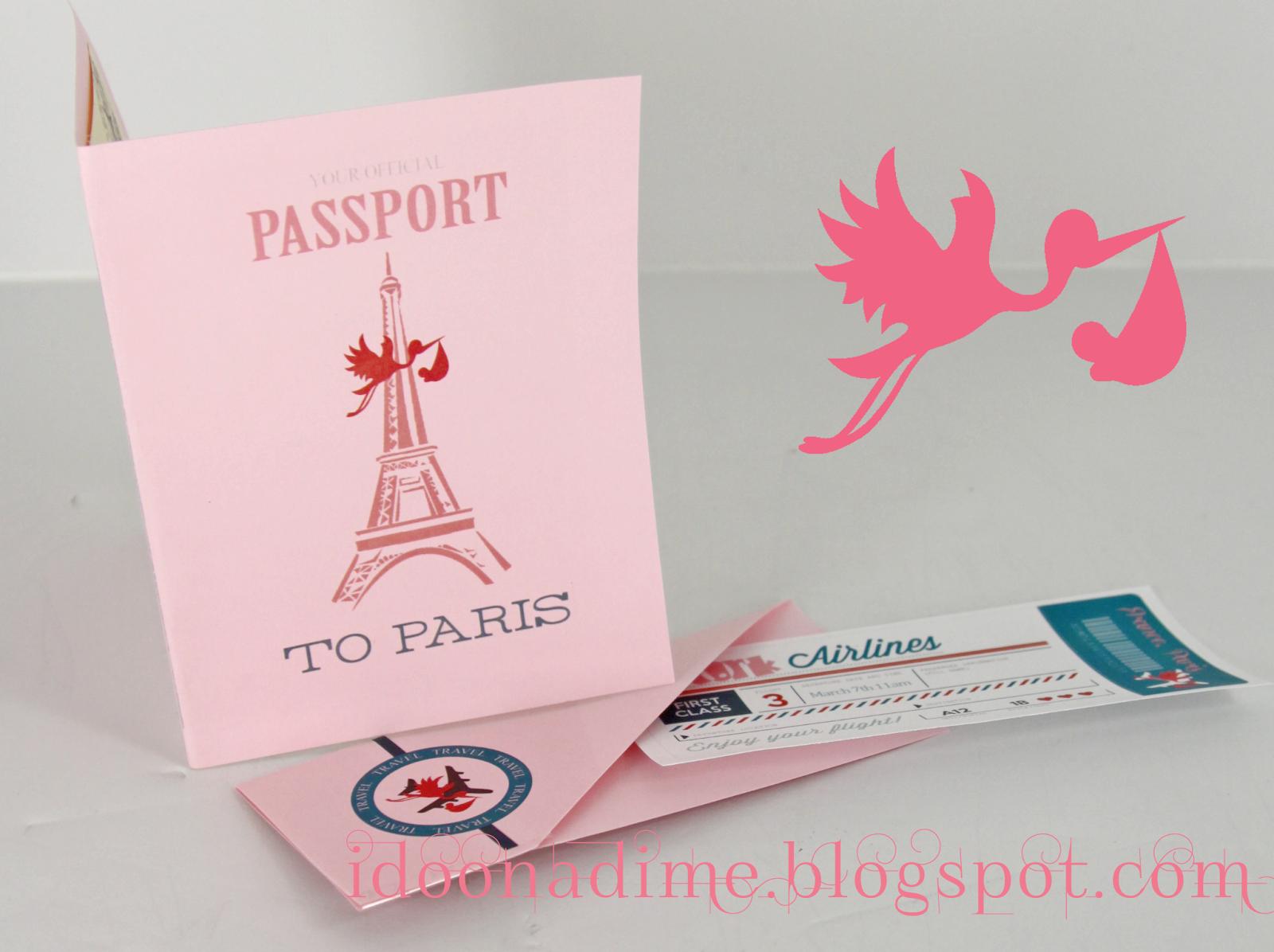 Paris baby shower invitations gangcraft i do on a dime free paris baby shower passport invites and baby shower invitations filmwisefo