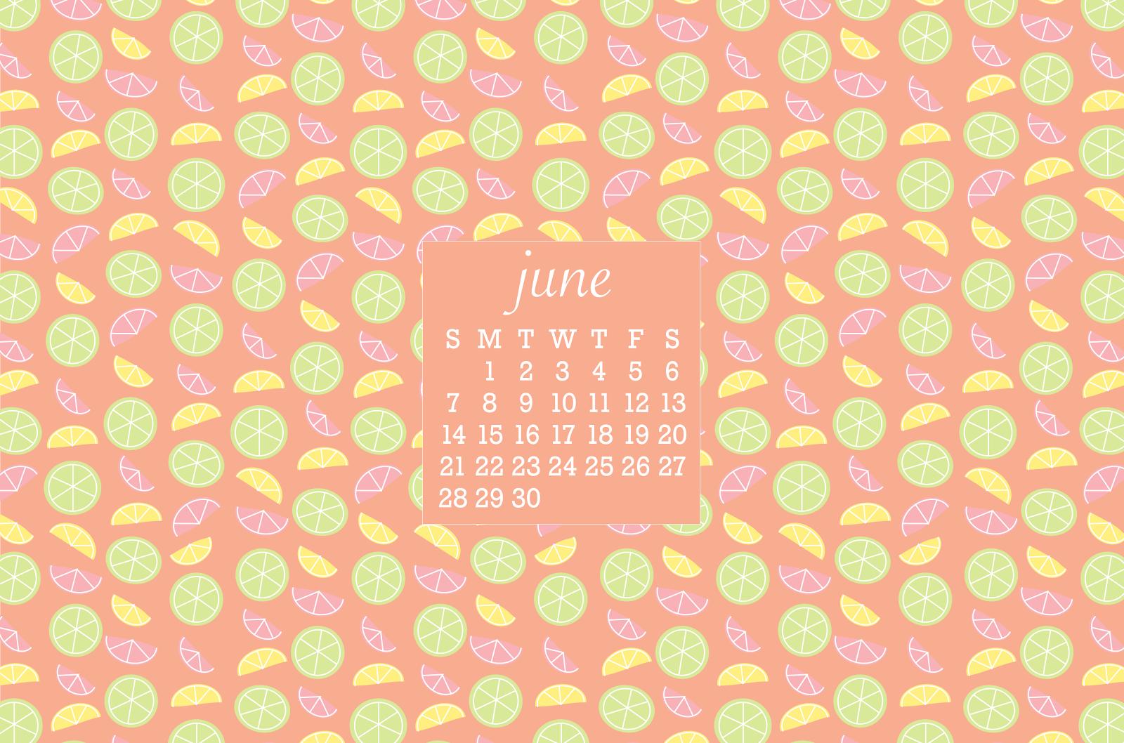June Calendar Background : June iphone desktop wallpapers citrus