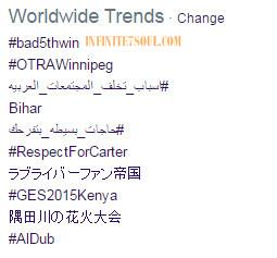 #Bad5thWin Trending Worldwide