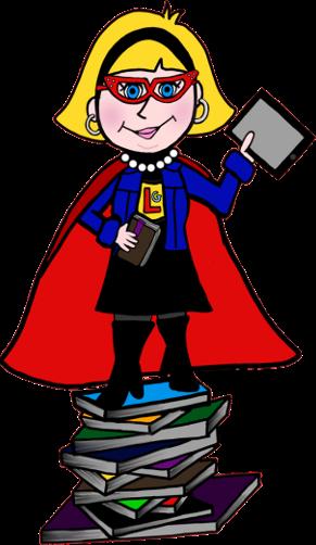 Mean Librarian Clipart