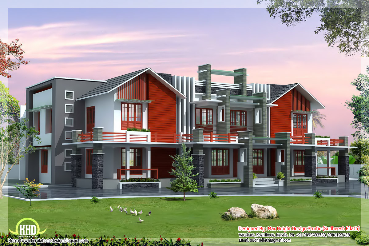 Super luxury 6 bedroom india house plan kerala home for 6 bedroom house plans