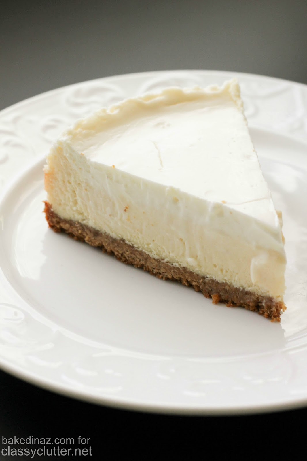 Classic Cheesecake with Sour Cream Topping   Classy ...