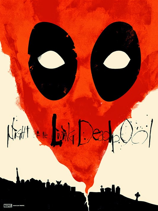 """Night of the Living Deadpool"" Marvel Screen Print by Jay Shaw"