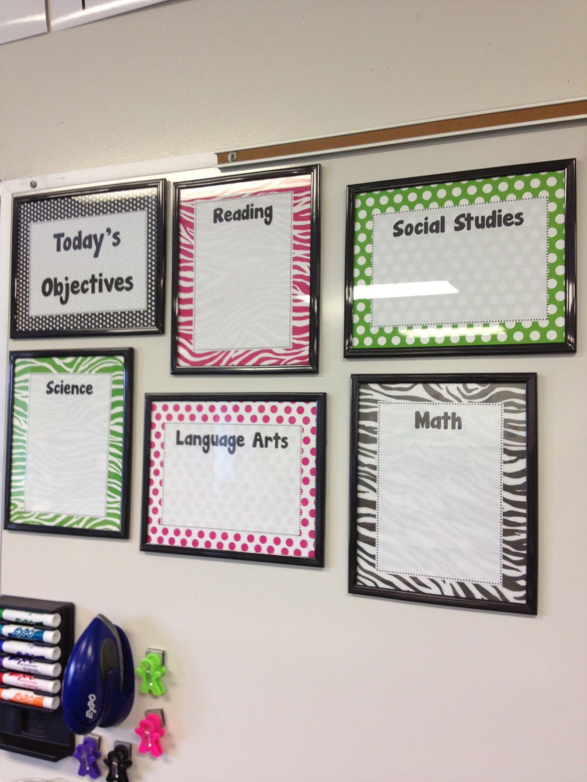 Classroom Whiteboard Decoration Ideas ~ Welcome to first grade room diy learning target frames