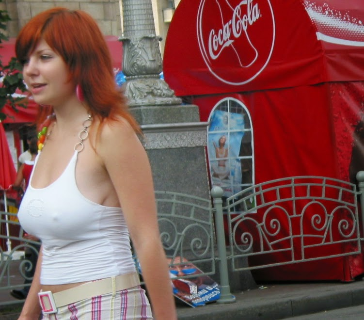 Without Teen Boobs Redhead 8