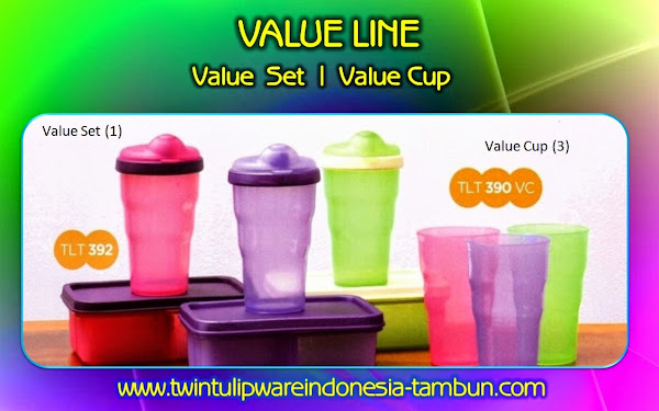 Value Set & Value Cup - Produk Baru Tulipware 2014