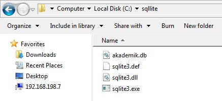 Membuat Database Di SQLite