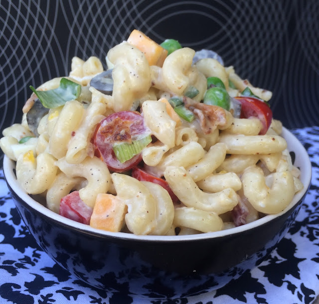 Recipe:  Pasta, Recipe:  Salad, Recipe:  Side Dish, Best Macaroni Salad, Deals to Meals, perfect bbq side dish,