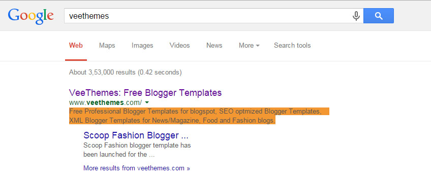 Veethemes search resut