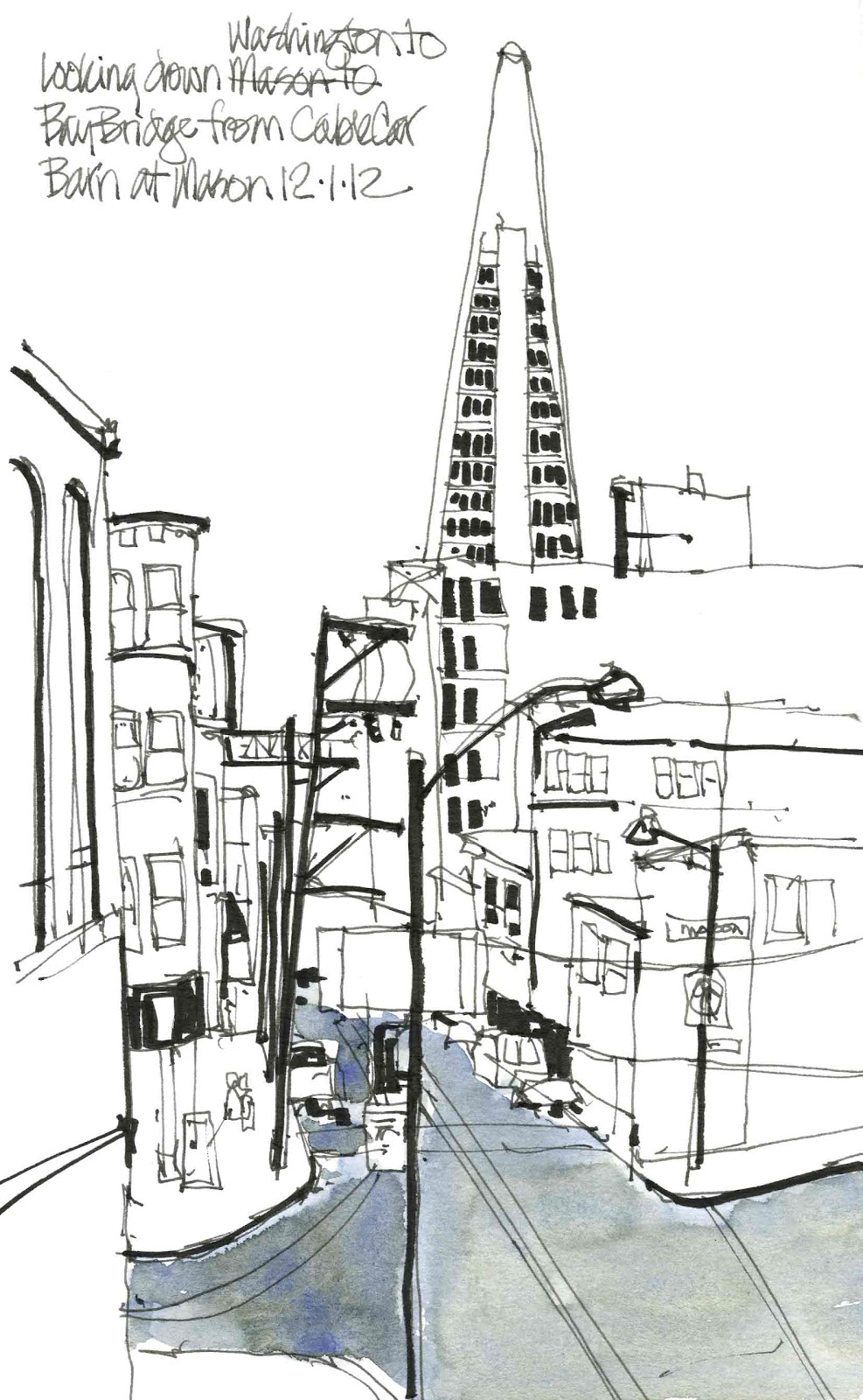 Urban Sketchers S.F. Bay Area: Cable Car museum in San Francisco