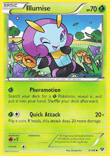 Illumise Pokemon X and Y Card