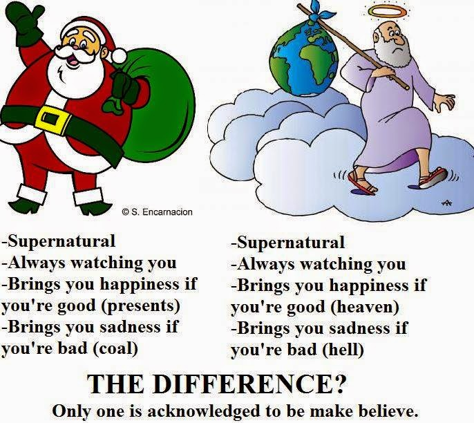 i never told my daughter that santa was real but we still had lots of fun with the tradition - Santa Claus And Jesus 2