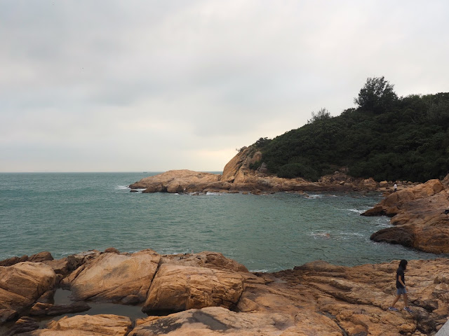 Coastal views and rock formations on the south side of Cheung Chau Island, Hong Kong