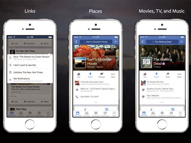 Facebook Launches Save Button to Bookmark Content