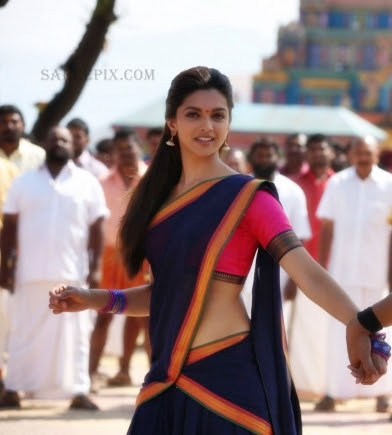 Deepika-padukone-half-saree-Chennai-express-movie