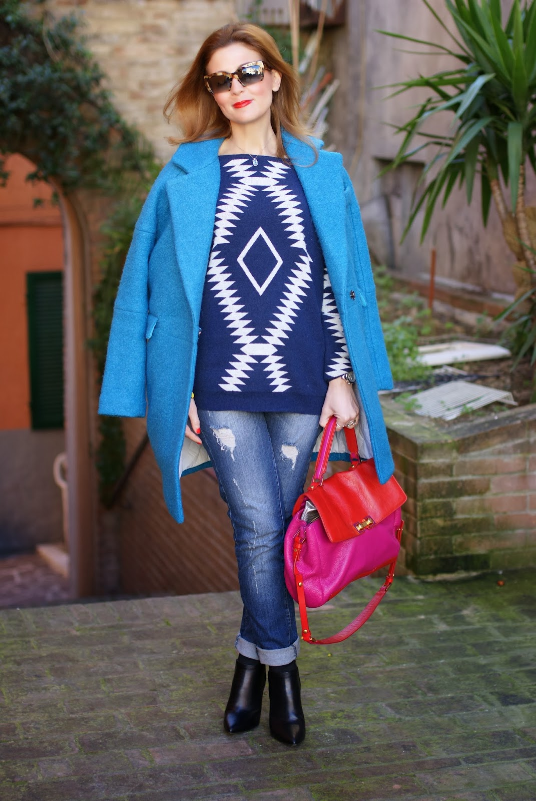 Choies Blue woolen ovoid coat, Fashion and Cookies, fashion blogger