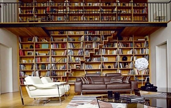 Fotos de salas decoradas con biblioteca colores en casa for Libreria roche bobois