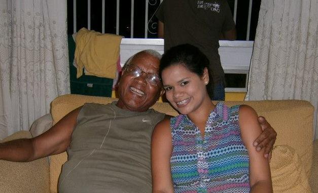 Con mi  nieta mayor