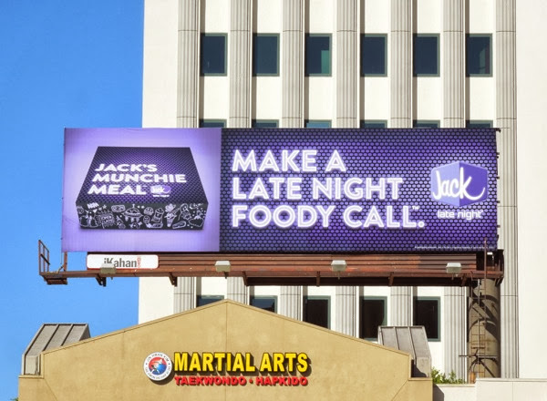 Make a late night foody call Jack in the Box billboard