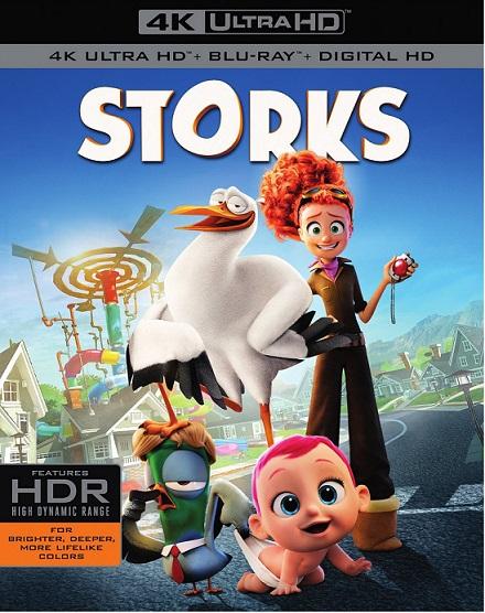 Storks 4K (Cigüeñas: La Historia que no te Contaron 4K) (2016) 2160p 4k UltraHD HDR BDRip 13GB mkv Dual Audio DTS-HD 7.1 ch