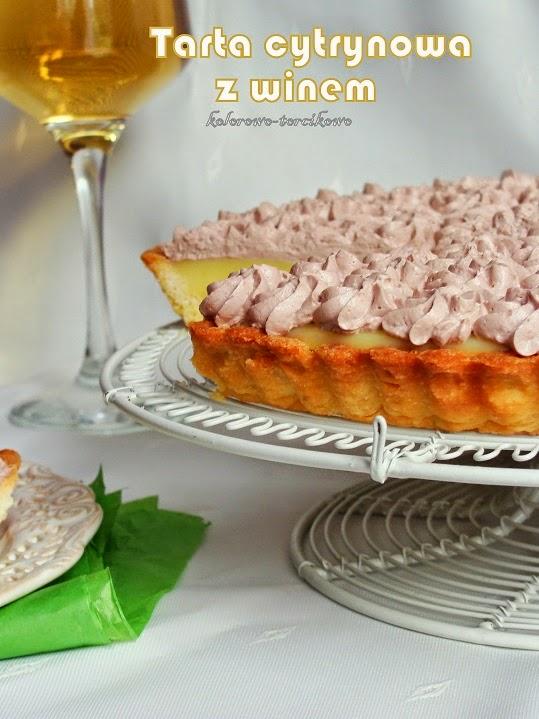 Tarta cytrynowa z winem
