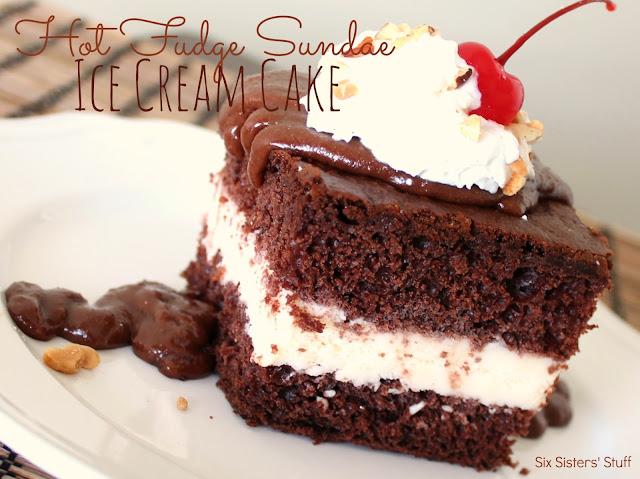 Hot Fudge Sundae Ice Cream Cake Recipe | Six Sisters' Stuff