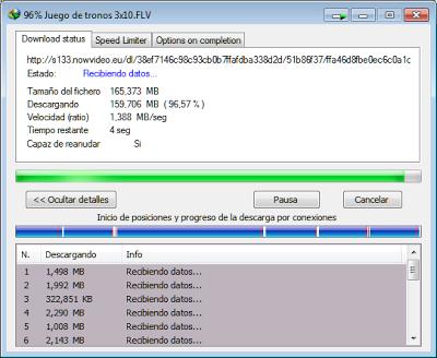 Velocidad descarga IDM