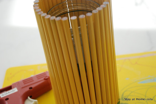 pencil vase from a jar