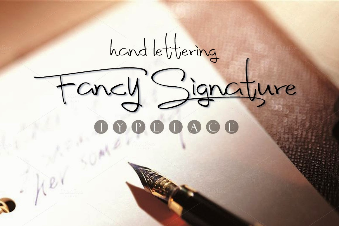 Fancy Signature Fonts new free