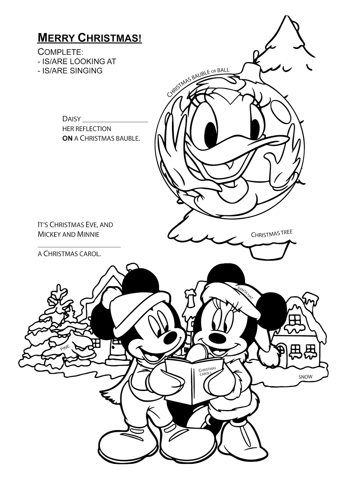 Páginas para colorear originales Original coloring pages: Merry ...