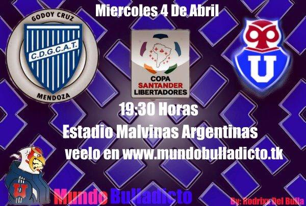 godoy cruz vs universidad de chile este miercoles 4 de abril un