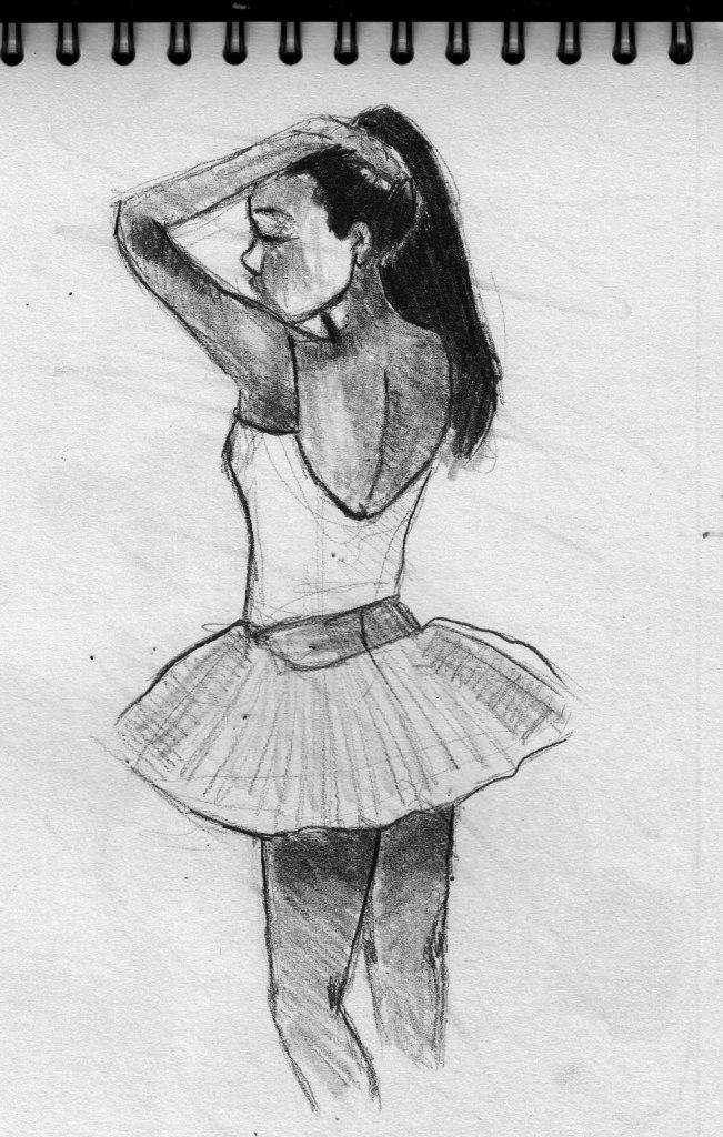 how to draw a ballerina dancer