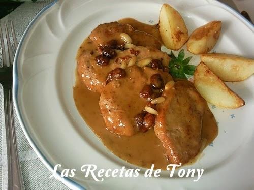 Solomillo De Cerdo Al Pedro Ximenez Con Pasas Y Piñones