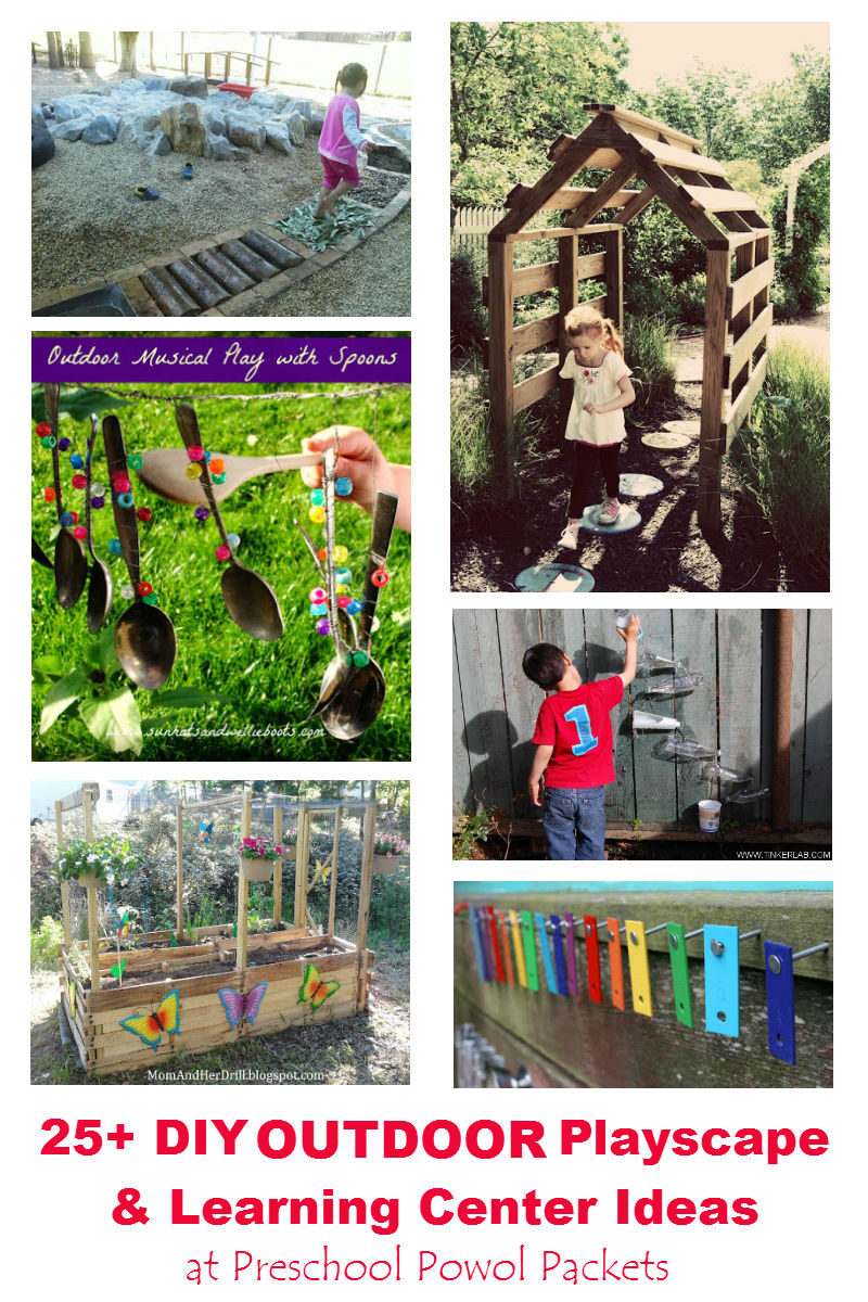 25 diy outdoor playscapes and learning station ideas preschool