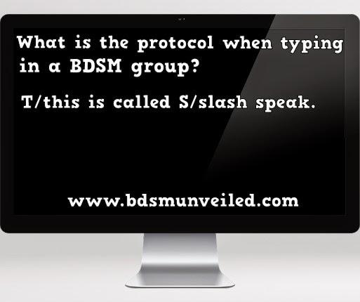 BDSM Slash speaking