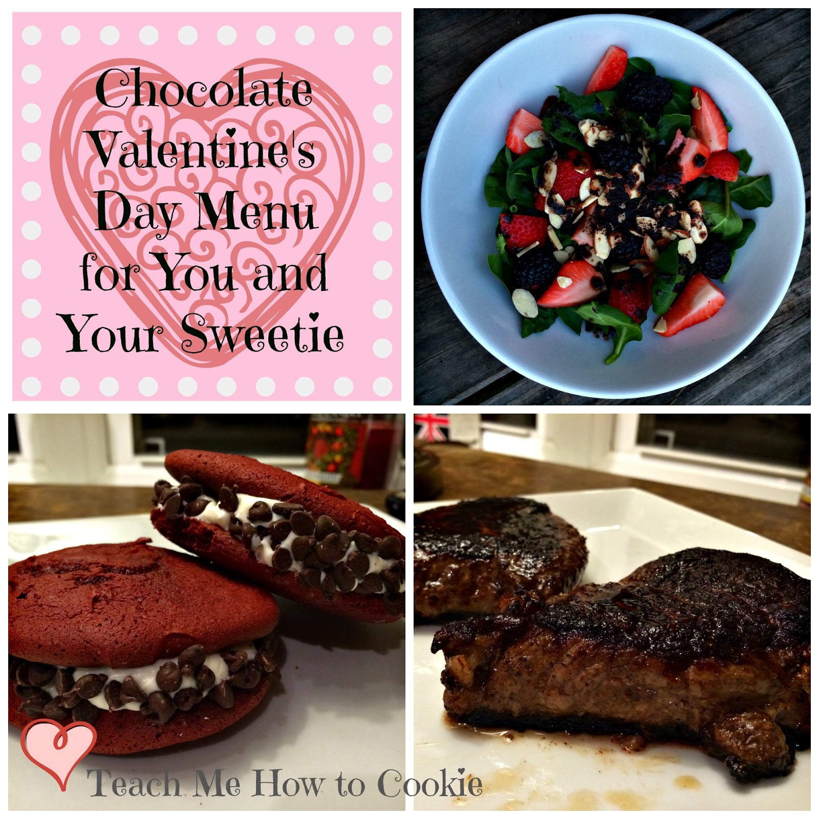 Valentine's Day Dinner Menu for you and your sweetie