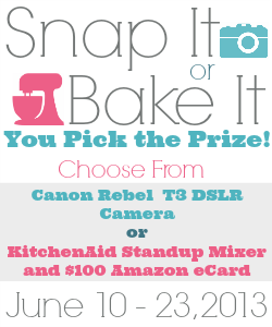 snap it or bake it giveaway