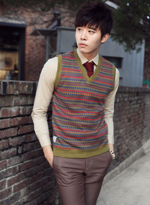 Korean Zig Zag Sweater Vest