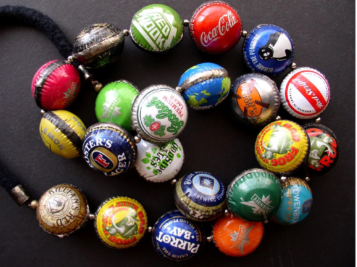 Ingrid dijkers bottle cap beads for Pictures of bottle caps